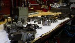 Démontage Expertise Réparation Remontage Essais sur banc d'une pompe hydraulique Linde BPV 50