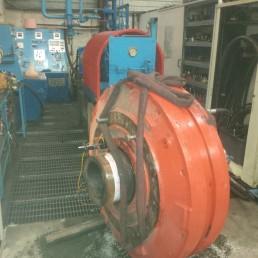 Démontage Expertise Réparation Remontage Essais sur banc d'un moteur hydraulique Hagglunds Marathon